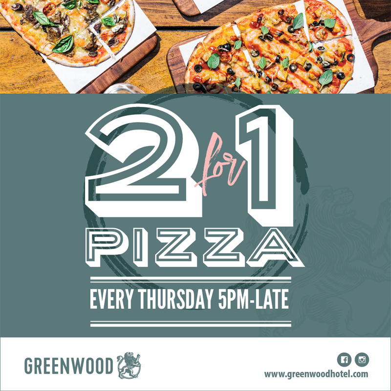2 4 1 Pizza at the Greenwood
