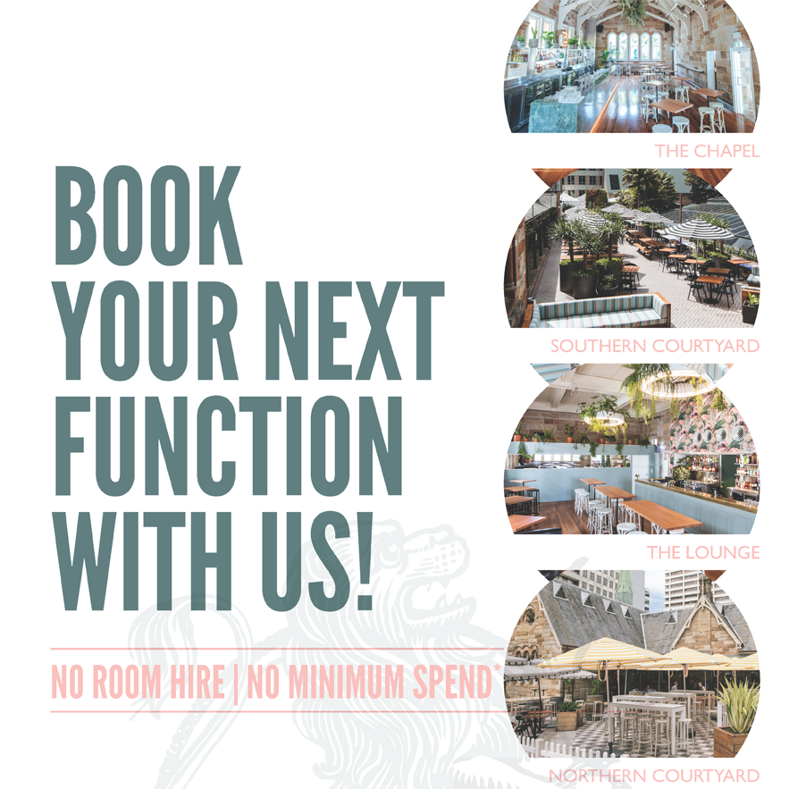 Book your next Function at the Greenwood Hotel