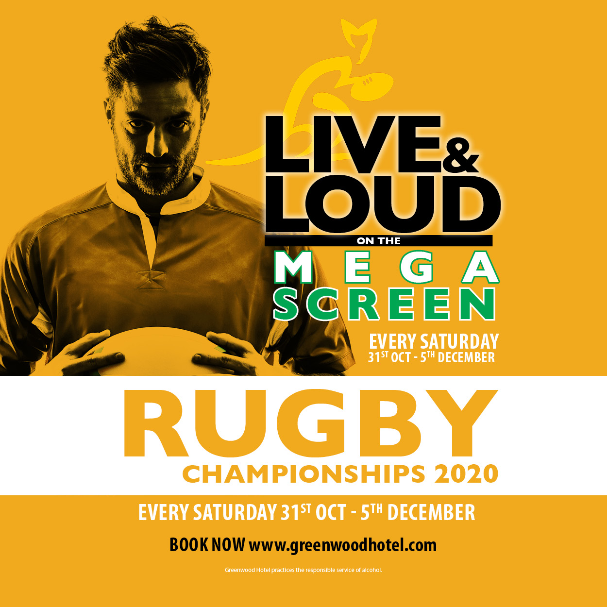 Rugby Championship Live and Loud at Greenwood