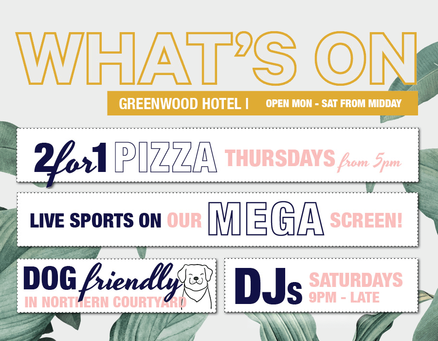What's on at the Greenwood in October