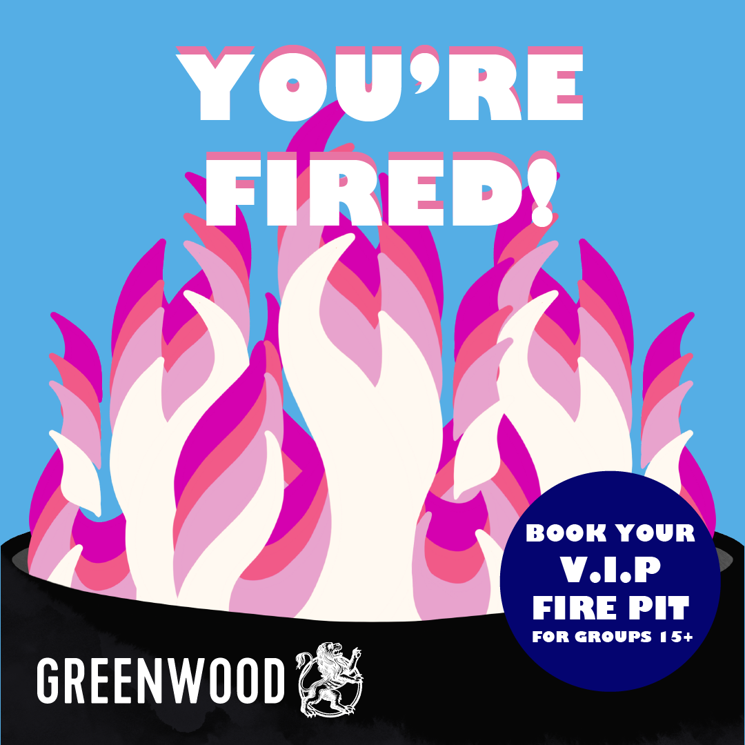 Book your VIP fire pit at Greenwood Hotel